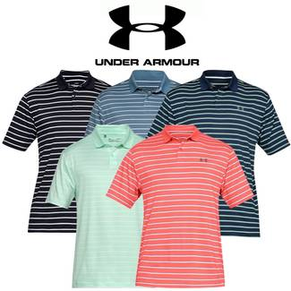 e8218fa17 Under Armour Mens Performance 2.0 Divot Stripe Golf Polo Shirt - SALE