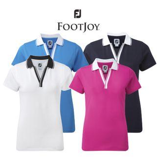 6c3b5990 FootJoy Ladies Stretch Golf Pique V-Neck Shirt - SALE