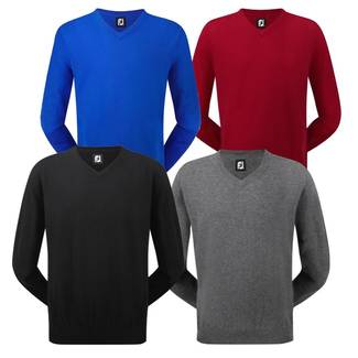 Footjoy Mens Lambswool V Neck Golf Sweater