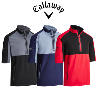 Callaway Mens 1/2 Sleeve Block Wind Jacket - 2019