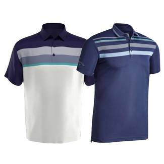 Callaway Birdseye Chest Stripe Golf Polo Shirt
