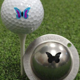 Tin Cup Golf Ball Marker Butterfly Flutterby