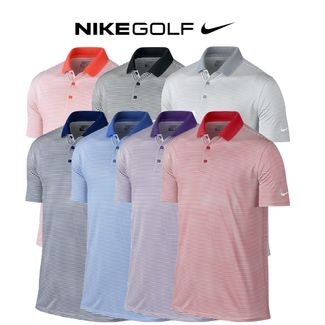8e8a55980 Nike Victory Mini Stripe Mens Golf Polo (725520) SALE Only £14.50