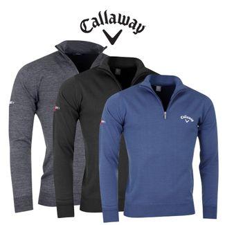 Callaway Golf Mens 14 Zip Mock Sweater Only 4999