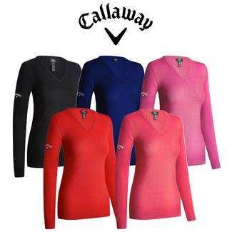 Callaway Ladies V-Neck Merino Golf Sweater - 2019