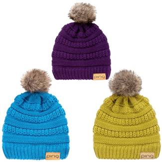 Ping Ladies Cable Knit Bobble