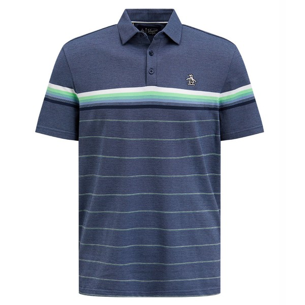 Original Penguin Mens Engineered Energy Stripe Golf Shirt