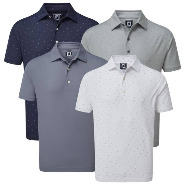 Smooth Pique With Houndstooth Collar Polo Shirt