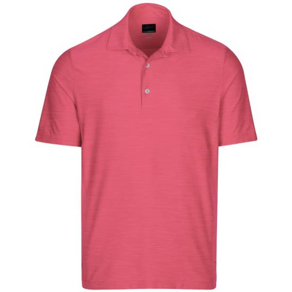 Greg Norman Mens Heathered Mesh Performance Golf Polo