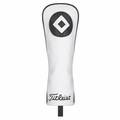 Titleist Leather White Deluxe Fairway Headcover