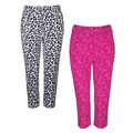 Glenmuir Ladies Matilda Printed Golf Capri Pants