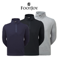 Footjoy Mens Spun Poly Buttoned Golf Pullover