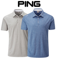 Ping Mens Harrison Heather Golf Polo Shirt