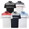 FootJoy Heather Colour Block Lisle Polo Shirt