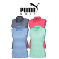 Puma Womens Stripe Sleeveless Golf Polo 2015