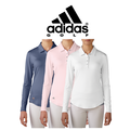 Essentials 3-Stripes Long Sleeve Golf Polo