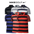 Breathe Bold Stripe Mens Golf Polo
