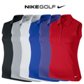 Womens Victory Solid Sleeveless Golf Polo