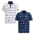 Eco Short Sleeve Parrot Allover Golf Shirt