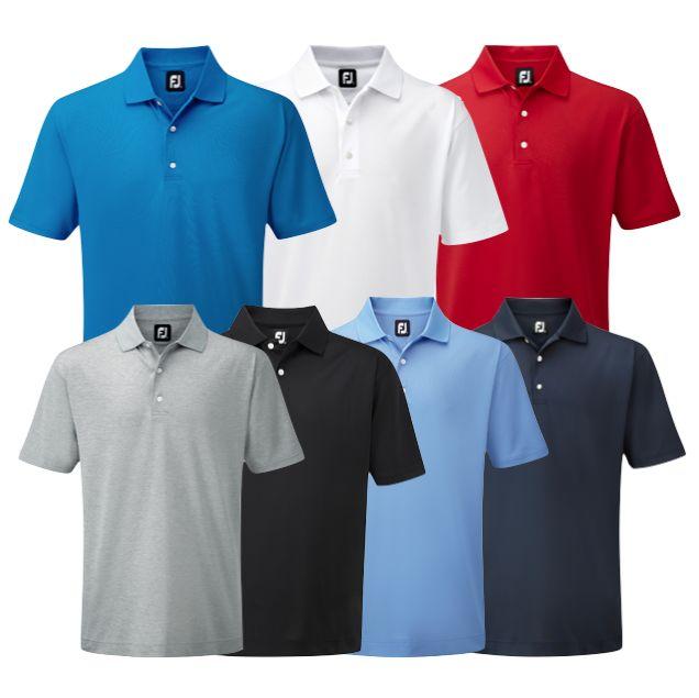 Footjoy Stretch Pique Solid Colour Golf Polo Shirt