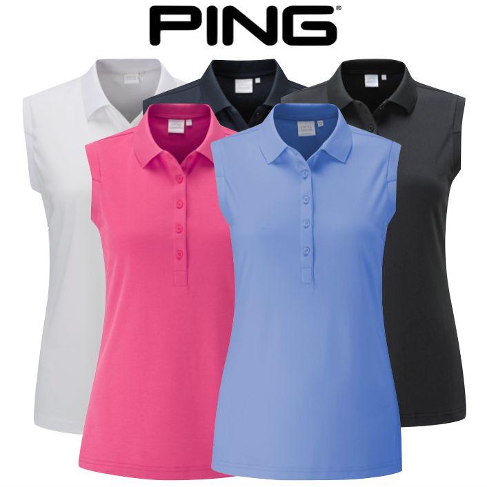 d3f4acbb Ping Ladies Faraday Sleeveless Polo Shirt - SALE