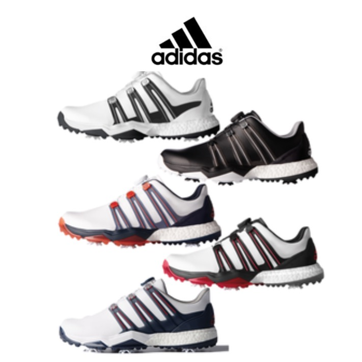 watch 0b0fa c327a adidas Powerband BOA Boost Mens Golf Shoe