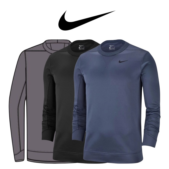 e8d1d2f9438449 Nike Mens Therma Crew Golf Top Core 2018