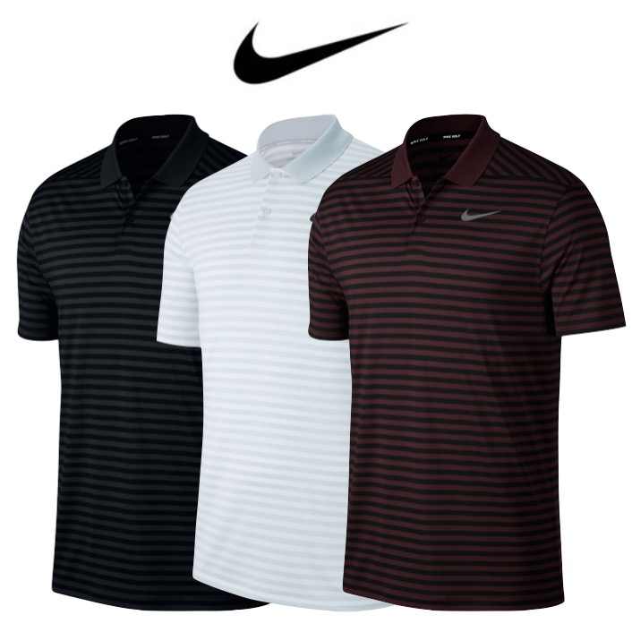 16e975158 Nike Mens Dry Victory Stripe LC Golf Polo 2018
