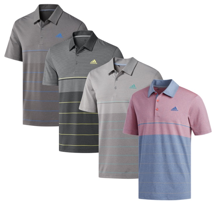 2488fcf9 adidas Mens Ultimate 365 Heather Stripe Golf Polo. Ultimate 365 Heather  Stripe Polo