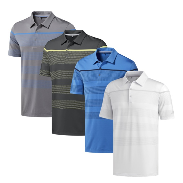 a1f9806a adidas Mens Ultimate 365 Dash Stripe Golf Polo