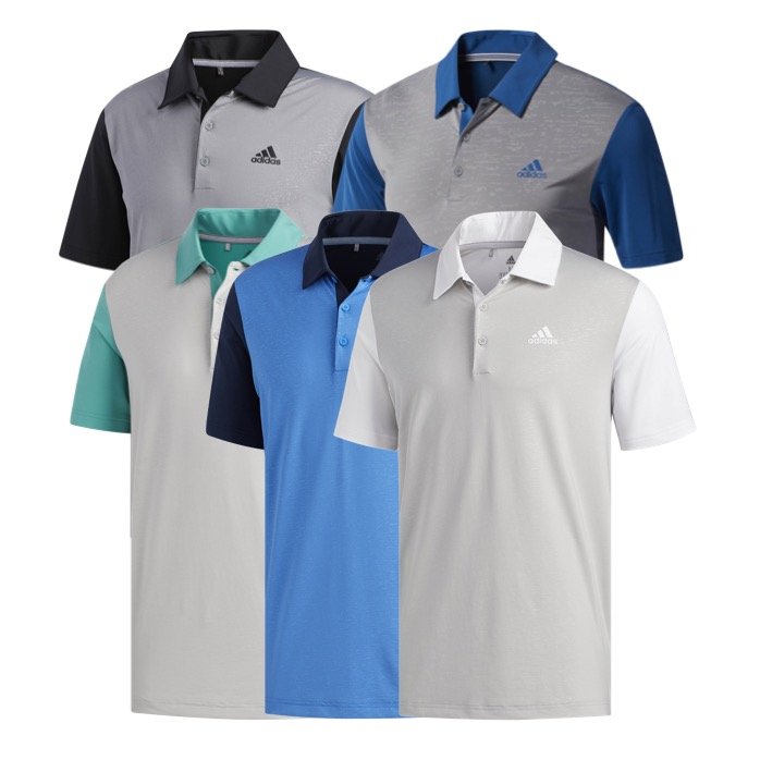 dd618430 adidas Mens Ultimate 365 Camo-Embossed Golf Polo