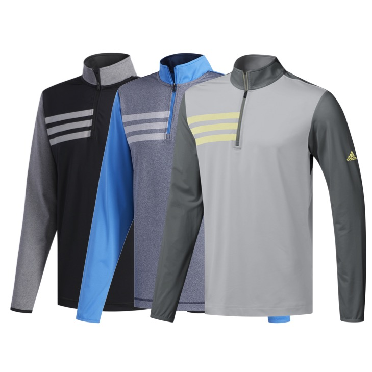 best sneakers 1a332 bffe8 Mens 3-Stripes Competition Quarter Zip Golf Sweater