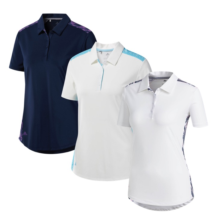 ca1593ec adidas Ladies Novelty Golf Polo