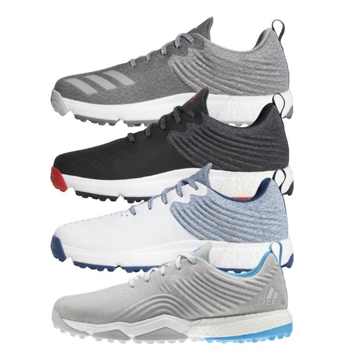 half off 50% off on sale adidas adipower 4orged S Mens Golf Shoe + FREE Socks