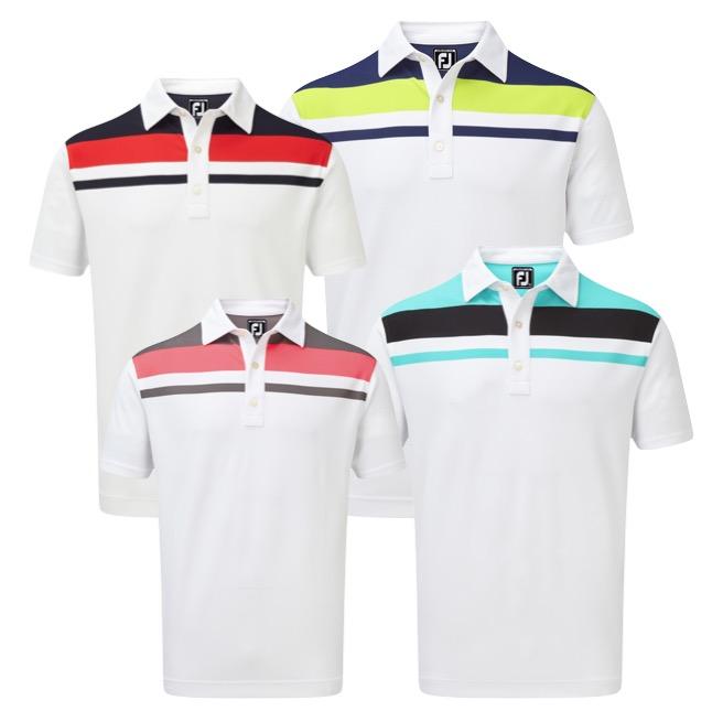 8e180599 FootJoy Stretch Colour Block Yoke Polo Shirt - Great Value