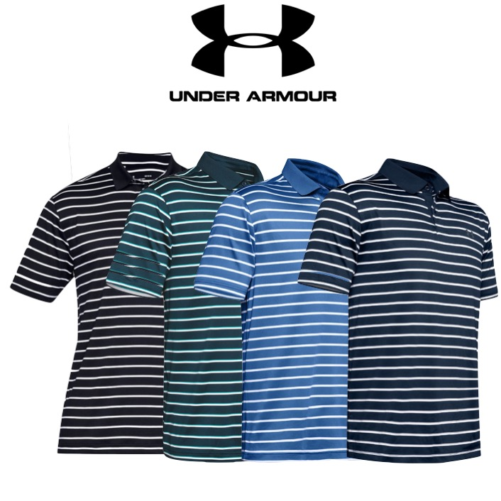 d0f40db30 Under Armour Mens Performance 2.0 Divot Stripe Golf Polo Shirt
