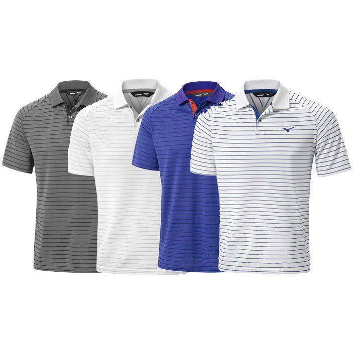 07b26838 Mizuno Quick Dry Stripe Golf Polo Shirt