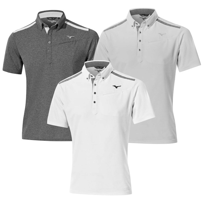554d4547 Mizuno Golf Breath Thermo Golf Polo Shirt