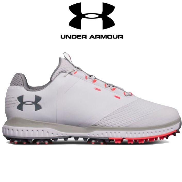 355acf682a6e Under Armour Womens Fade RST Golf Shoes - White Overcast Grey