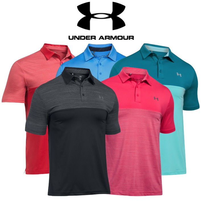 fe7a2d2a Under Armour Mens Playoff Blocked Golf Polo SALE