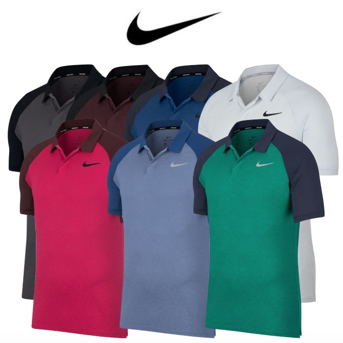 Nike Mens Dry Raglan Golf Polo Shirt