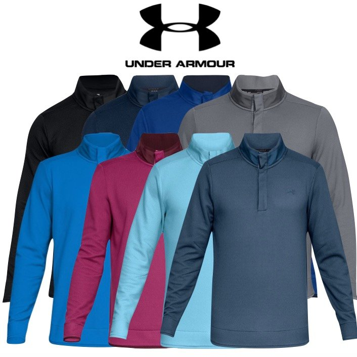 famous designer brand available new product Under Armour Mens Storm SweaterFleece Snap Golf Mock - SALE