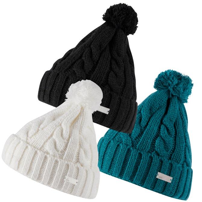 adidas Solid Womens Pom Pom Beanie Hat - New 313e176ba34