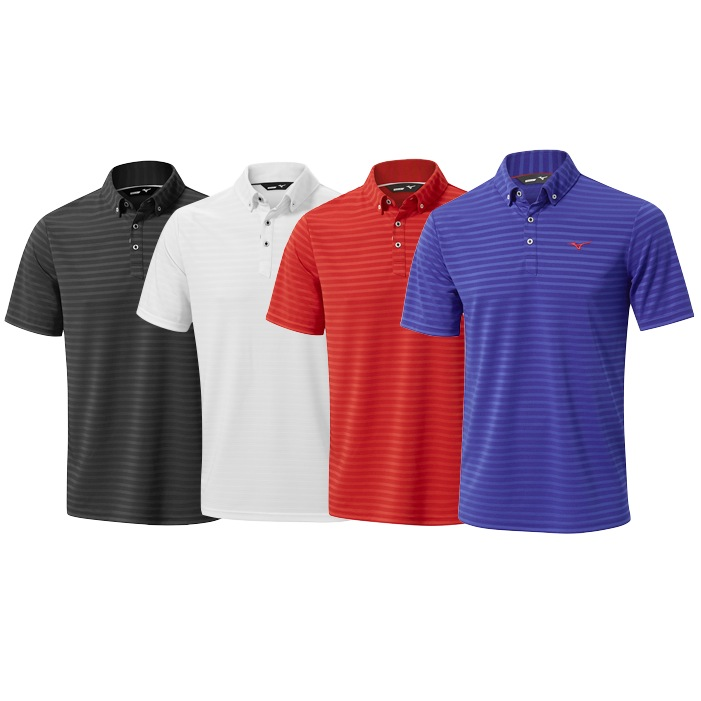 f0c78f9c Mizuno Quick Dry Textured Golf Polo Shirt