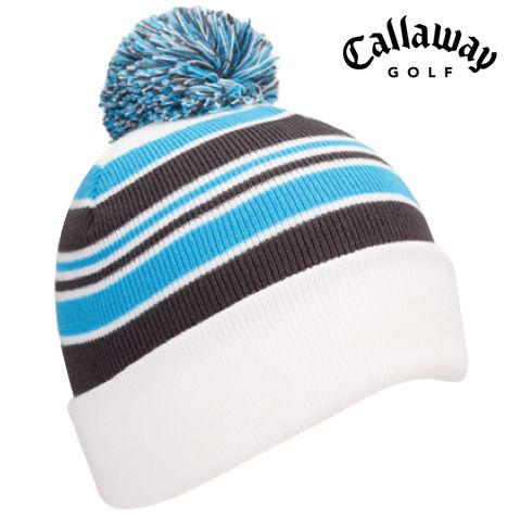 Callaway Pom Pom Beanie 2017 Black White Black Red White Grey White Sky Blue 68e055624153