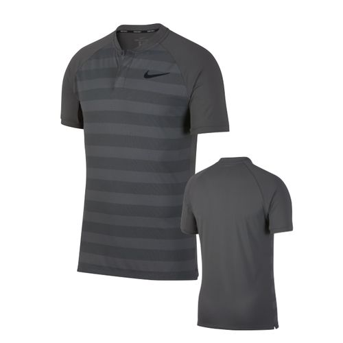 40984477 Nike Mens Zonal Cooling Momentum Stripe Golf Polo 2018. Zonal Cooling  Momentum Stripe Golf Polo · enlarge · Dark Grey/Black/Black White/Wolf ...