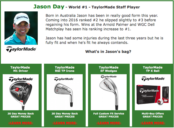 Battle Of The Brands Jason Day TaylorMade #1